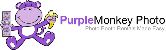 Purple Monkey Photo Booth Rental logo